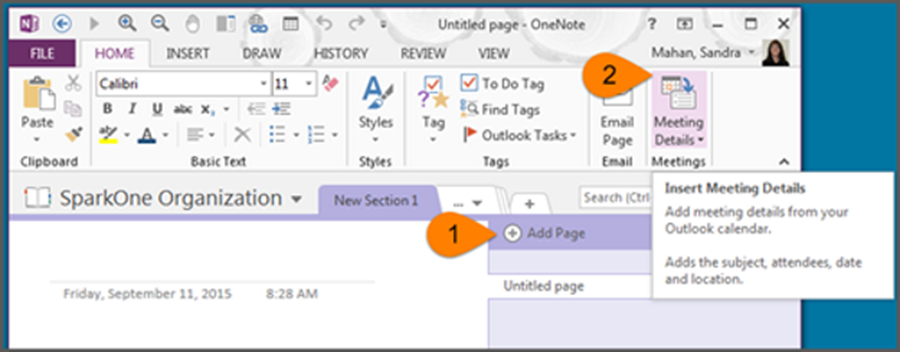 Using OneNote for Meeting Minutes – One Minute Office Magic