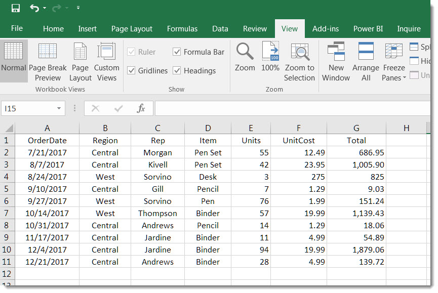 Removing gridlines from an Excel spreadsheet – One Minute ...