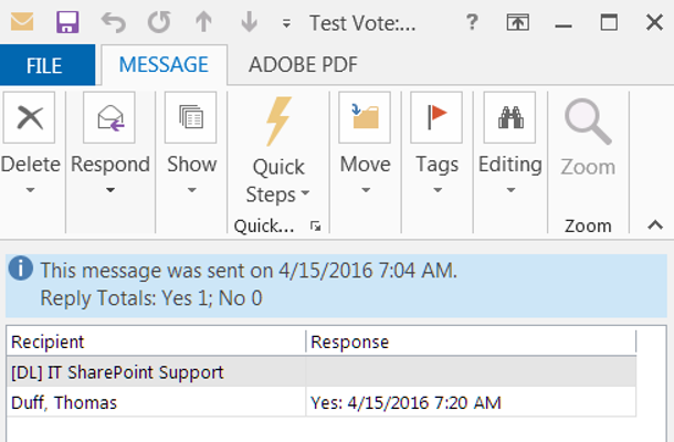 Voting buttons in Outlook – One Minute Office Magic