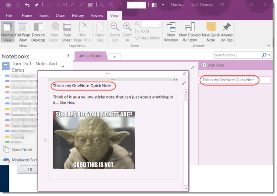 The OneNote Quick Notes feature you've likely never heard of…