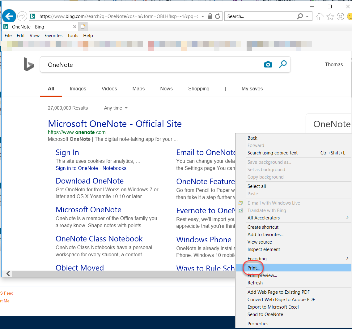 Printing content to OneNote – One Minute Office Magic